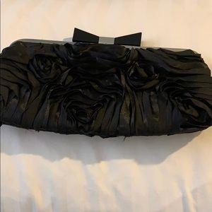 Black fabric clutch